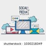 social media element to... | Shutterstock .eps vector #1030218349