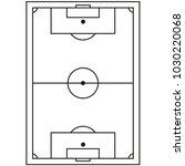 line art black and white soccer ... | Shutterstock .eps vector #1030220068
