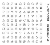 technical support flat icon set.... | Shutterstock .eps vector #1030220743