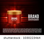 cosmetic ads template. cosmetic ... | Shutterstock .eps vector #1030223464