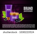 cosmetic cream ads. realistic... | Shutterstock .eps vector #1030223524