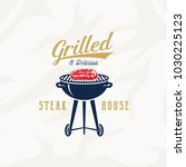 grill steak house vintage... | Shutterstock .eps vector #1030225123