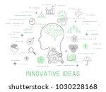 ideas   innovation concept ... | Shutterstock .eps vector #1030228168