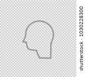 head vector icon eps 10. human... | Shutterstock .eps vector #1030228300