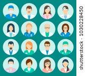 avatar hospital staff. medicine ... | Shutterstock .eps vector #1030228450