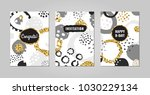 black ink  gray  white and gold ... | Shutterstock .eps vector #1030229134