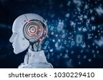 3d rendering robot learning or... | Shutterstock . vector #1030229410