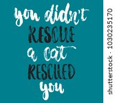 you didn't rescue a cat rescued ...   Shutterstock .eps vector #1030235170