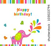 template greeting card  vector... | Shutterstock .eps vector #103023794