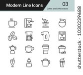 coffee and coffee makers icon.... | Shutterstock .eps vector #1030239688