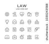 set line icons of law | Shutterstock .eps vector #1030243588