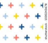 abstract handmade doodle cross... | Shutterstock .eps vector #1030243678