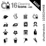 Basic   Cleaning Icons