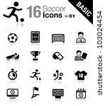 basic   soccer icons | Shutterstock .eps vector #103024454
