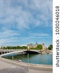 Small photo of Pont Alexandre III bridge (1896) over river Seine in Paris, France, vertical view