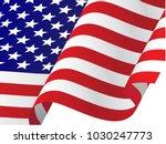 Waving Usa Flag Vector...