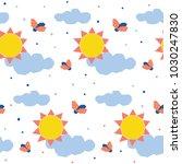 abstract sun seamless pattern...   Shutterstock .eps vector #1030247830