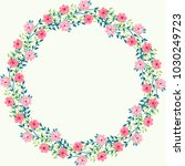 floral round frames from cute... | Shutterstock . vector #1030249723