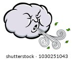 an image of a angry cloud... | Shutterstock .eps vector #1030251043