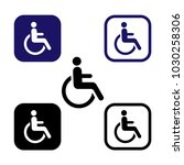 disabled icon symbol isolated.... | Shutterstock .eps vector #1030258306