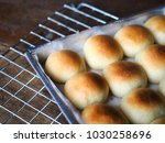 closeup bread rolls in mold on... | Shutterstock . vector #1030258696