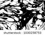 black and white liquid texture. ... | Shutterstock .eps vector #1030258753