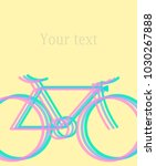 Colored Bicycle Summer Poster...