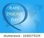 international day of rare... | Shutterstock .eps vector #1030275229