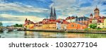 view of regensburg with the... | Shutterstock . vector #1030277104