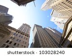 highrise buildings at the wall...   Shutterstock . vector #103028240