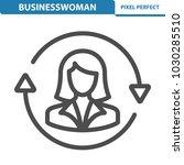 businesswoman icon.... | Shutterstock .eps vector #1030285510