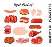 vector meat products  butcher... | Shutterstock .eps vector #1030285696