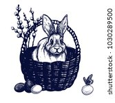 easter symbols  hand drawn... | Shutterstock .eps vector #1030289500