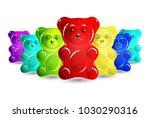 jelly bears set | Shutterstock .eps vector #1030290316