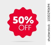 special offer sale sticker red | Shutterstock .eps vector #1030290694