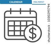 calendar icon. professional ... | Shutterstock .eps vector #1030295794
