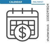 calendar icon. professional ... | Shutterstock .eps vector #1030295824