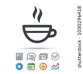 tea cup icon. hot coffee drink... | Shutterstock .eps vector #1030296418