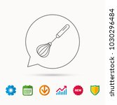 whisk icon. kitchen tool sign.... | Shutterstock .eps vector #1030296484