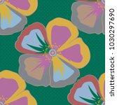 retro textile design collection.... | Shutterstock .eps vector #1030297690