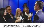big group of multiracial... | Shutterstock . vector #1030299340