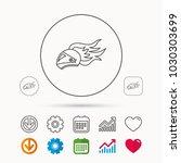 helmet on fire icon. motorcycle ... | Shutterstock .eps vector #1030303699