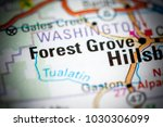 forest grove. oregon. usa on a... | Shutterstock . vector #1030306099