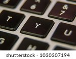 y keyboard key button press... | Shutterstock . vector #1030307194