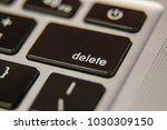delete back space keyboard key... | Shutterstock . vector #1030309150