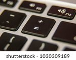 equal sign plus symbol keyboard ... | Shutterstock . vector #1030309189