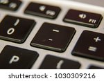 dash underscore symbol keyboard ... | Shutterstock . vector #1030309216