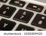 seven 7 ampersand and keyboard... | Shutterstock . vector #1030309420