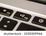 f12 volume up keyboard key... | Shutterstock . vector #1030309966