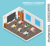 school and learning isometric... | Shutterstock .eps vector #1030318900
